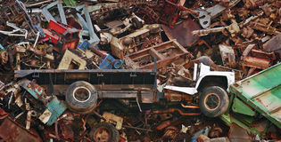 Giant Mountain of Scrap Heavy Metal Stock Photos