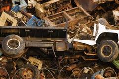 Giant Mountain of Scrap Heavy Metal stock photos