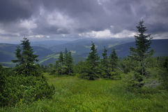 Giant Mountains. (Krkonose) view, northern part of Czech Republic Royalty Free Stock Photos