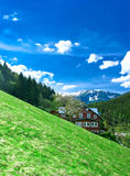 Giant mountains. Vertical panoramatic view of Krkonose(Giant mountains) in Czech republic Royalty Free Stock Image