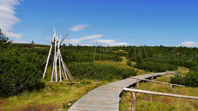 Giant Mountains, boardwalk over wetlands Royalty Free Stock Photography