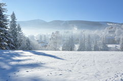 Giant Mountains / Karkonosze, Karpacz winter stock image