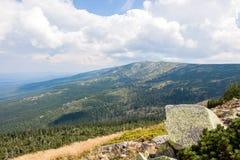 Giant Mountains in Poland. Peaks Royalty Free Stock Photos