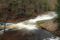 Giant mountains waterfall Royalty Free Stock Photo