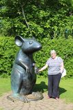 Giant mouse sculpture on Poet's Path, Alloway, Ayr Royalty Free Stock Images