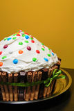 Giant muffin cake Royalty Free Stock Photos