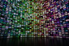 Giant multimedia wall Royalty Free Stock Image