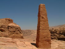 Giant obelisk, High Place of Sacrifice, Petra, Jordan Stock Photo
