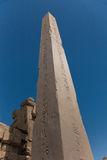 Ruins of Temple in Luxor--The obelisk Royalty Free Stock Photography