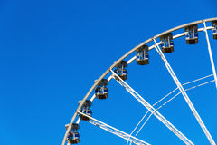 Giant Observation Wheel in Winter Wonderland Royalty Free Stock Photography