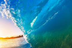 A Giant ocean wave tube Stock Photography