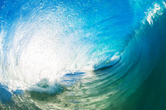 A Giant ocean wave tube Stock Photos