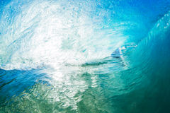 A Giant ocean wave tube royalty free stock photos
