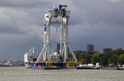 Giant Offshore Crane in Rotterdam royalty free stock image