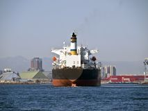 Giant Oil Tanker in Long Beach California Stock Images