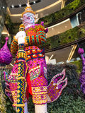 Giant orchids in siam paragon bangkok 2014 Royalty Free Stock Photography