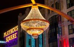 Giant outdoor chandelier Stock Photos