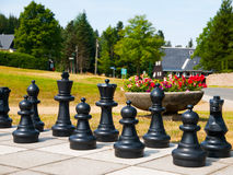 Giant outdoor chess Stock Photo