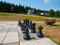 Giant outdoor chess Royalty Free Stock Photo