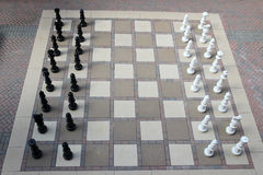 Giant outdoor chess set Stock Photography