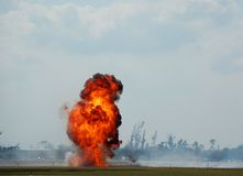 Giant outdoor explosion Royalty Free Stock Photo