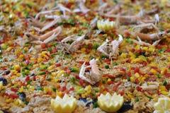 Giant paella Stock Image