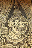 Giant painting in traditional Thai style Royalty Free Stock Photos