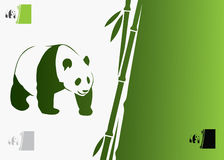 Giant panda background. Vector illustration of giant panda Royalty Free Illustration