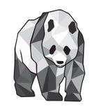 Giant panda. Decorative image of giant panda on a white background Stock Images