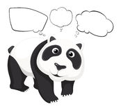A giant panda with empty callouts Royalty Free Stock Photo
