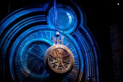 A giant pendulum at Warner Brothers Harry Potter Studio Tour Stock Image