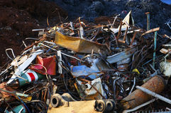 Giant Pile of Scrap Metal Royalty Free Stock Photo