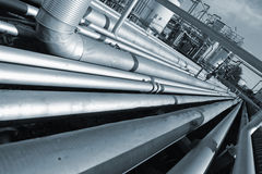 Giant pipeline construction Royalty Free Stock Image