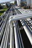 Giant pipeline construction and refinery Stock Photos