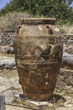 Giant Pithos. One of giant pithoses from Malia, Crete, Greece Stock Photos