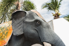 Giant plaster elephant in Thailand royalty free stock photography