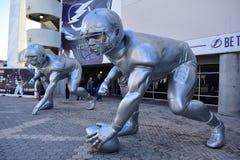 Giant Player Sculptures Royalty Free Stock Photos