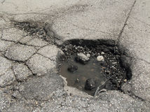 Giant pothole Royalty Free Stock Photos