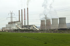 Giant Power Station. In Greece. Ptolemaida Stock Photography