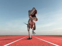 Giant prehistoric monster royalty free illustration
