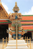 Giant protecting Emerald Buddha Temple in Bangkok, Thailand Stock Photography