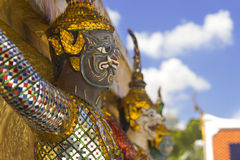 Giant protector of Bangkok Grand Palace Stock Photo