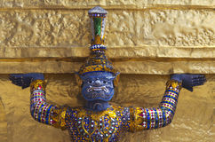 Giant protector of Bangkok Grand Palace Stock Photography