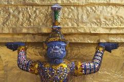 Giant protector of Bangkok Grand Palace Stock Photography