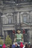 Giant puppet in Berlin. With a story of  seeing again the French Compagnie Royal de Luxe, takes part in the celebrations of the 20th anniversary of German Royalty Free Stock Photo