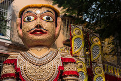 Giant puppet portrait Royalty Free Stock Photography