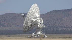 Giant radio telescope stock footage