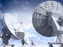 Giant radio telescopes Stock Image