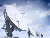 Giant radio telescopes Stock Photo