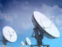 Giant radio telescopes Royalty Free Stock Image